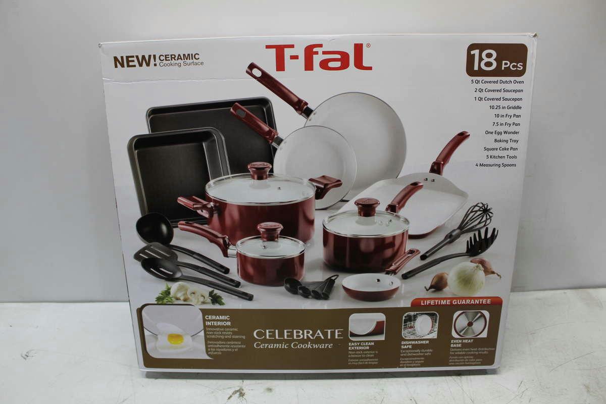 T Fal 18 Piece Celebrate Ceramic Cookware Ebay