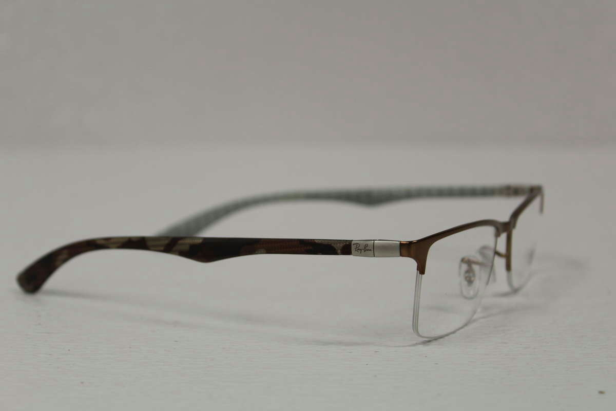 Gold Eyeglass Frames Ray Ban : Ray Ban Mens Eyeglass Frame RB8413 Brown/Gold eBay