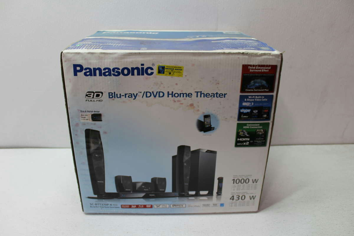 panasonic sc btt370p k 3d blu ray home theater system. Black Bedroom Furniture Sets. Home Design Ideas