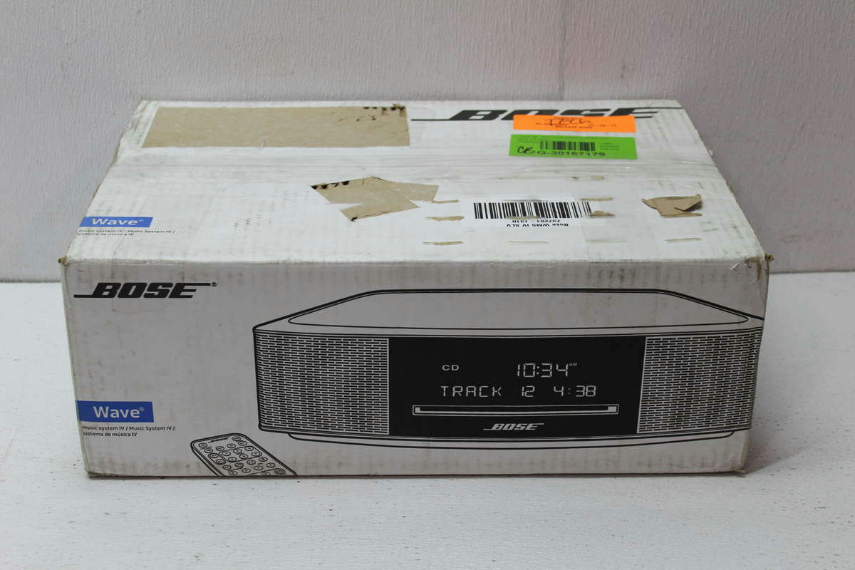 bose wave music system iv platinum silver ebay. Black Bedroom Furniture Sets. Home Design Ideas