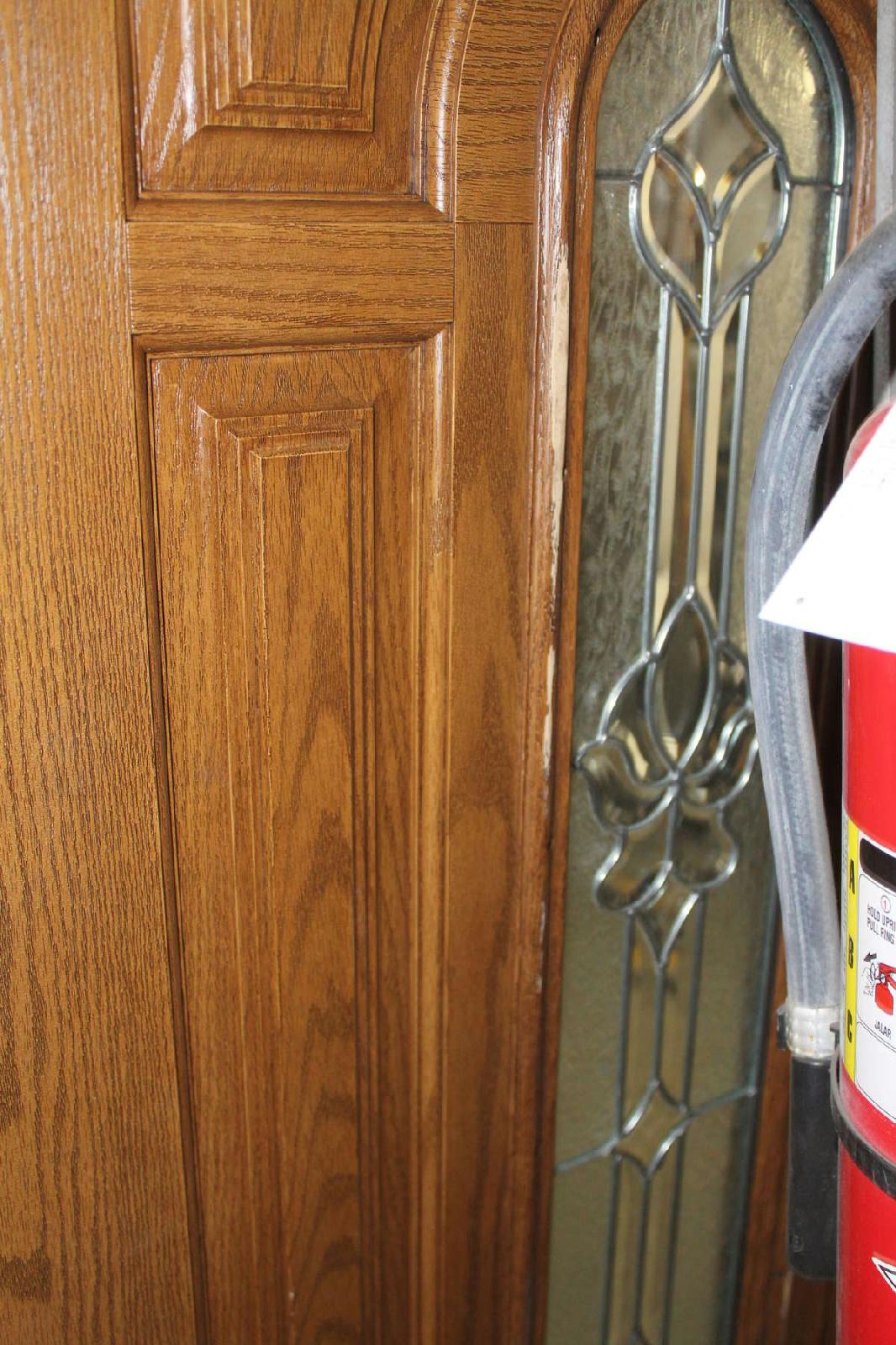 River Doors Feather River Door Bellante Wrought Iron: Feather River Door 68in. X 81.625 In Oak Fiberglass