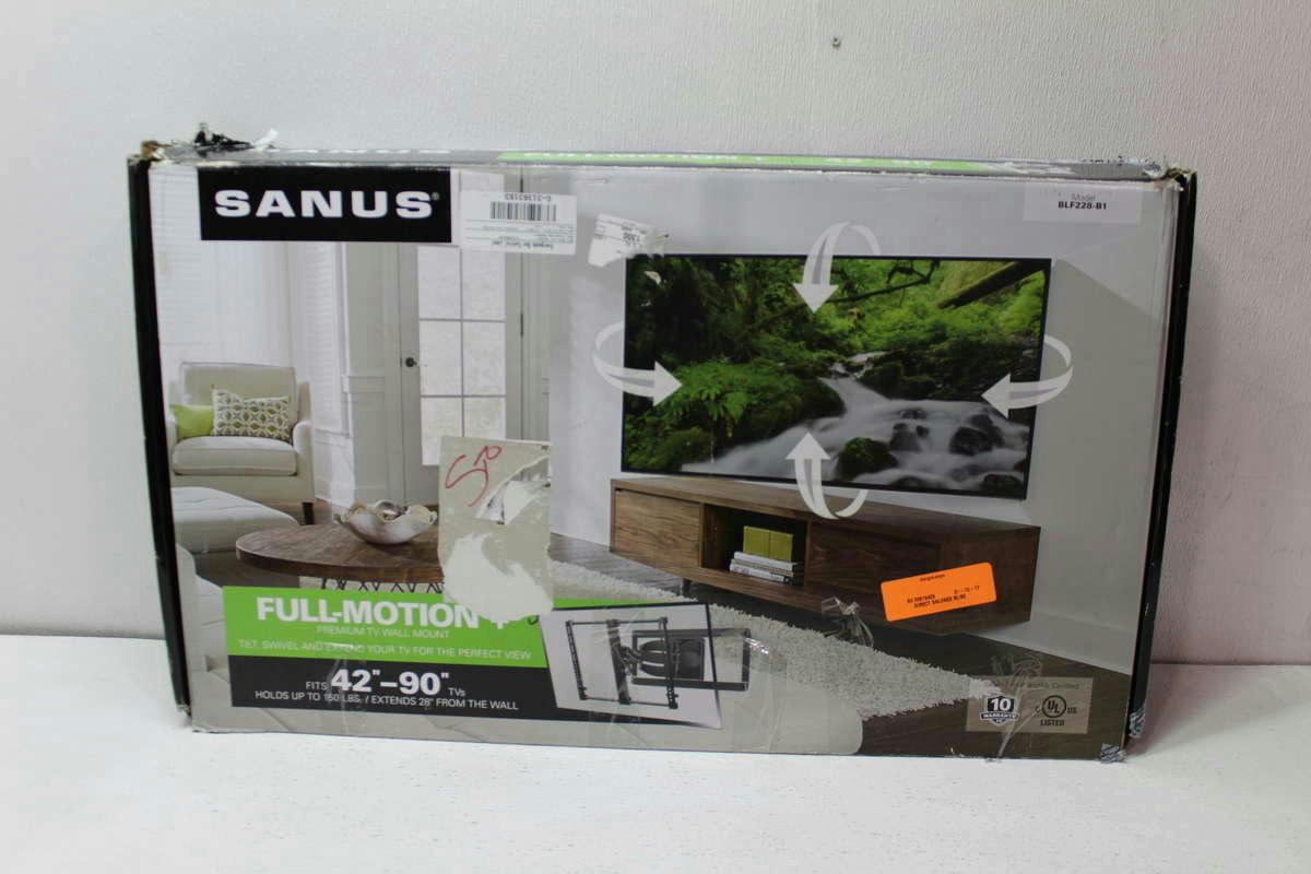 Sanus Blf228 B1 Full Motion Tv Wall Mount 42 90 Quot Ebay