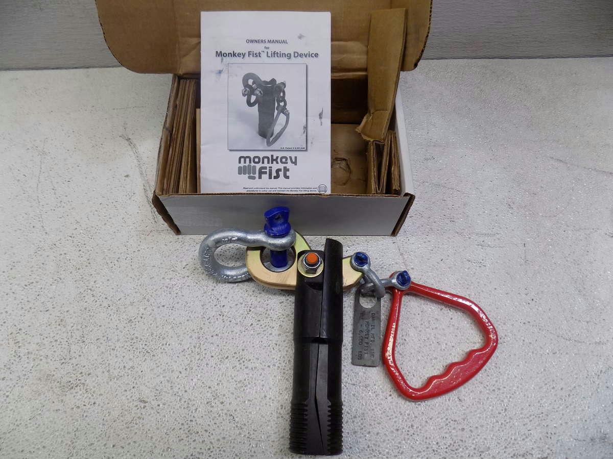 Monkey fist concrete lifting device