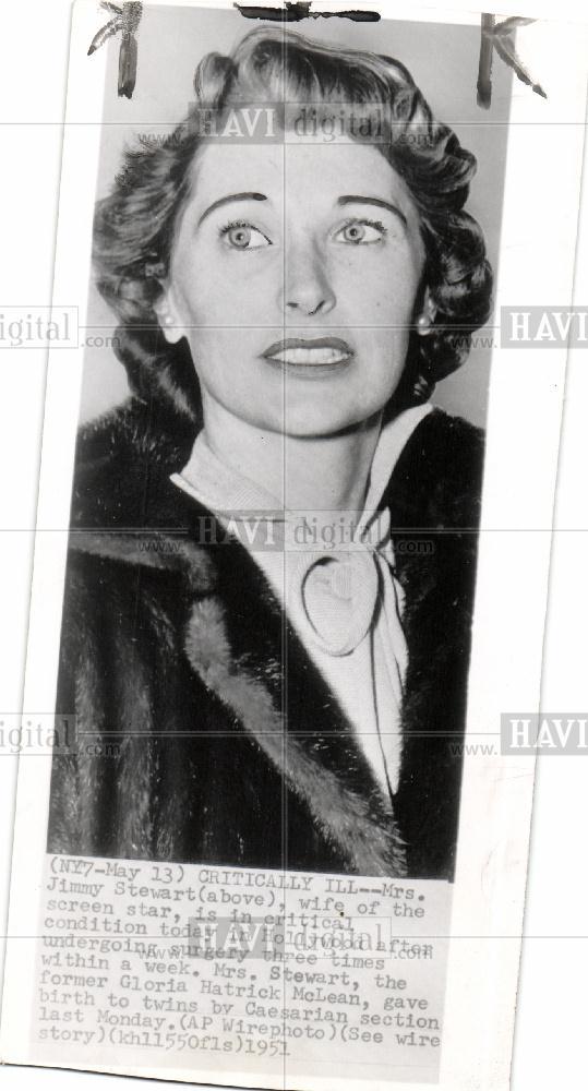 1951 Press Photo Jimmy Stewart Gloria Hatrick Mclean Ebay