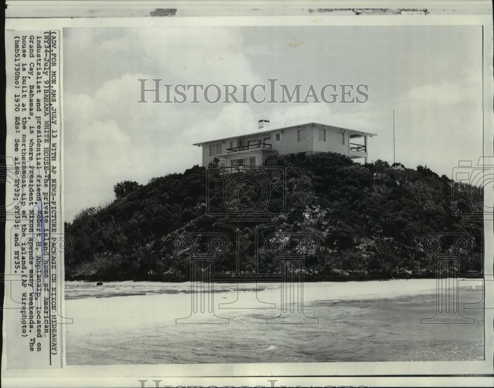 Details about   1970 Press Photo View of private home of Robert H. Abplanalp in the Bahamas.