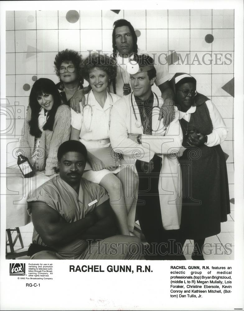 "1992 Press Photo Cast Of ""Rachel Gunn, R.N."" With Bryan"