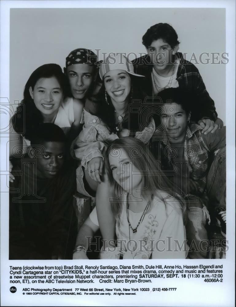 1993 Press Photo Teen Cast Of Series CityKids Which