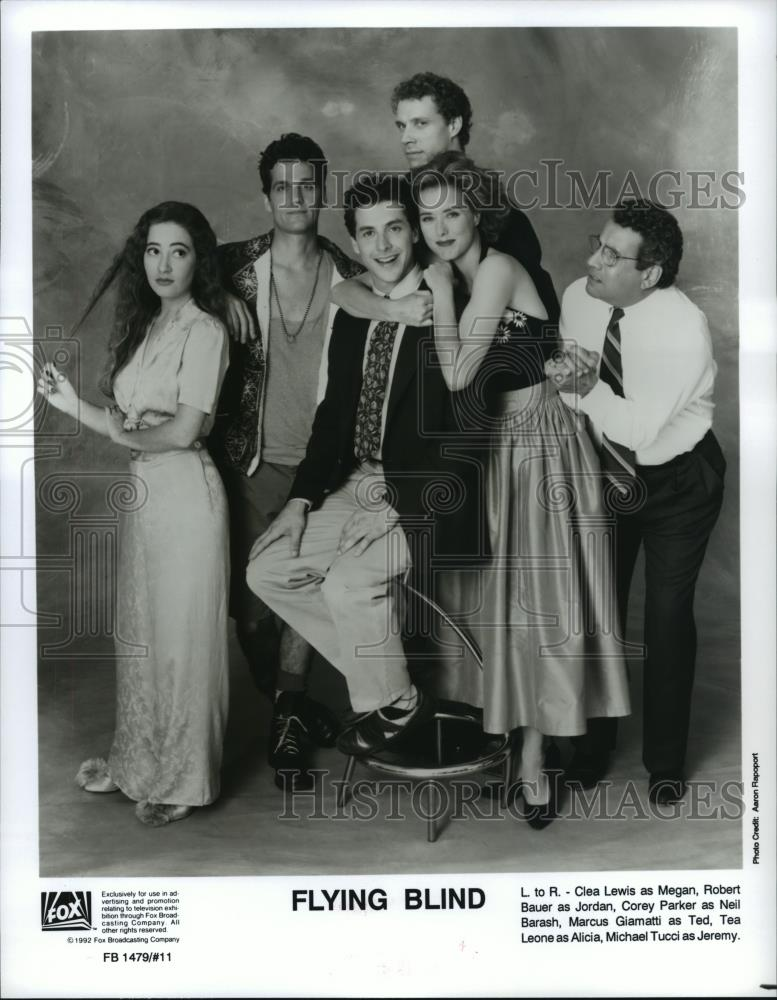 1992 Press Photo The Cast Of Flying Blind A Comedy Series