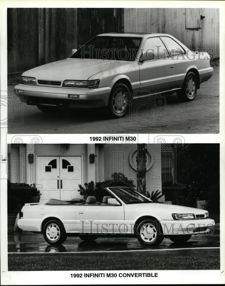 1992 Press Photo 1992 Infinity M30 Convertible
