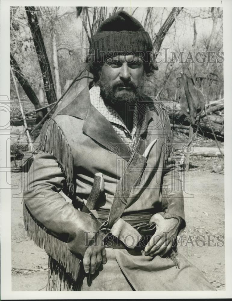 1978 Press Photo Actor Robert Conrad Portrays Frontier Trader In