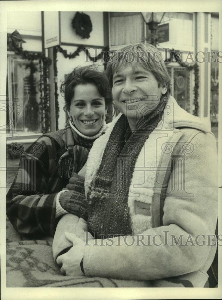 "1986 Press Photo John Denver and other actor in ""The ..."