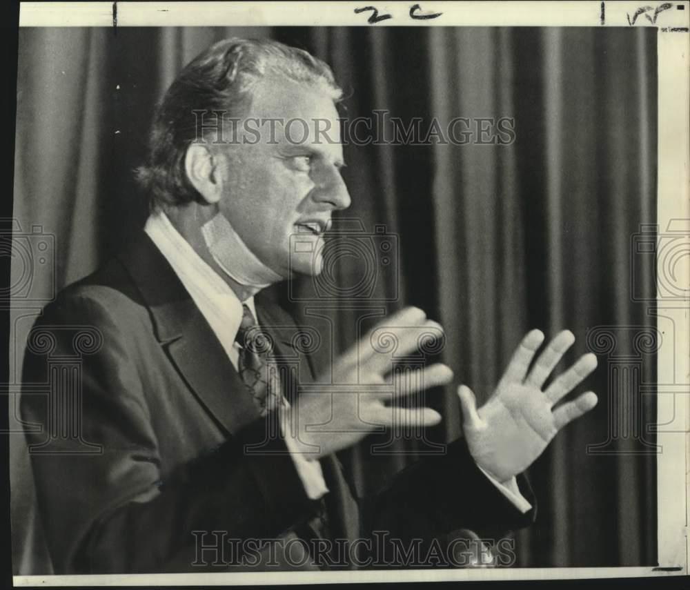 1971 Press Photo Dr. Billy Graham At NC Governor's Prayer