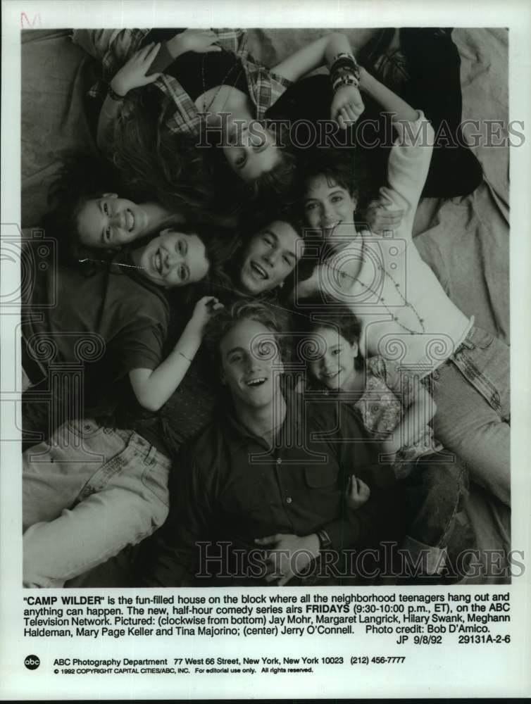 "1992 Press Photo Cast Of ""Camp Wilder""on The ABC"