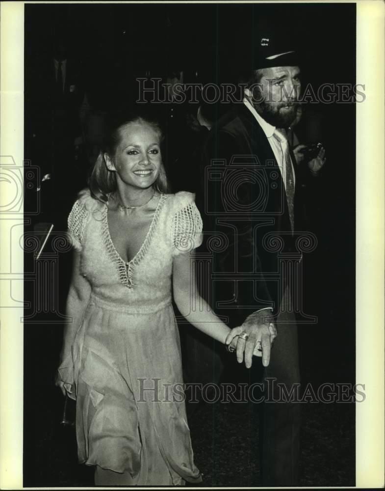 1983 Press Photo Charlene Tilton And Johnny Lee Arrive At