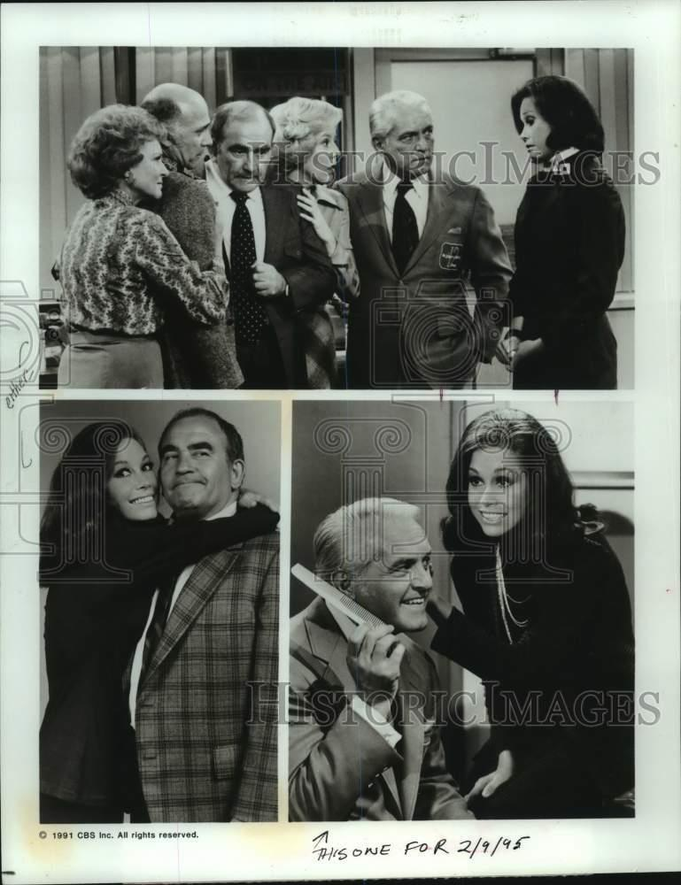 "1992 Press Photo Cast Of CBS ""Mary Tyler Moore: The 20th"