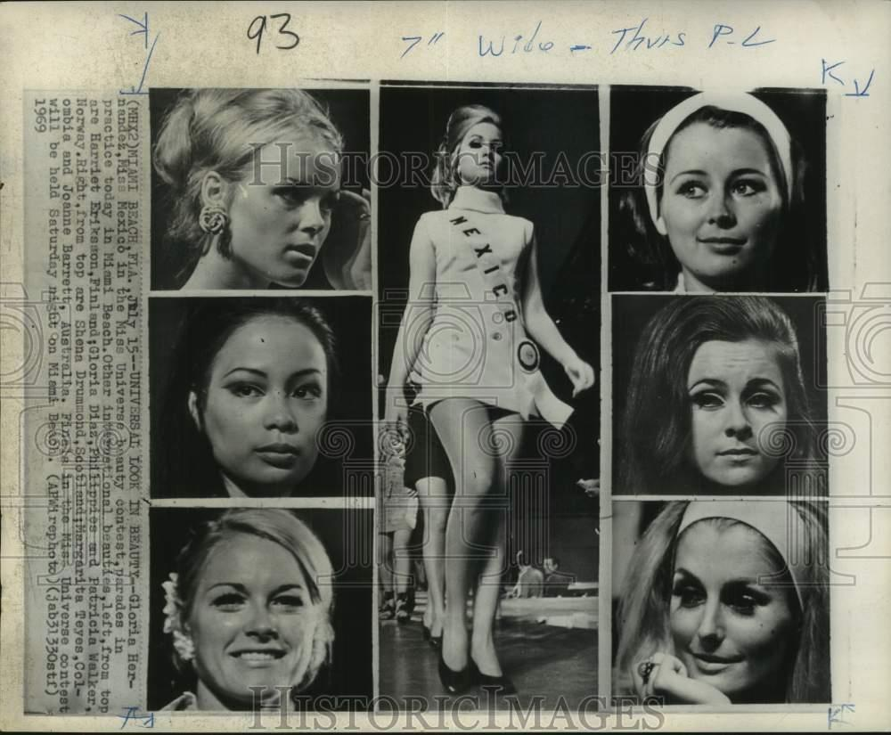 Details about 1969 Press Photo Miss Universe Contestants At Pageant  Practice In Miami Beach