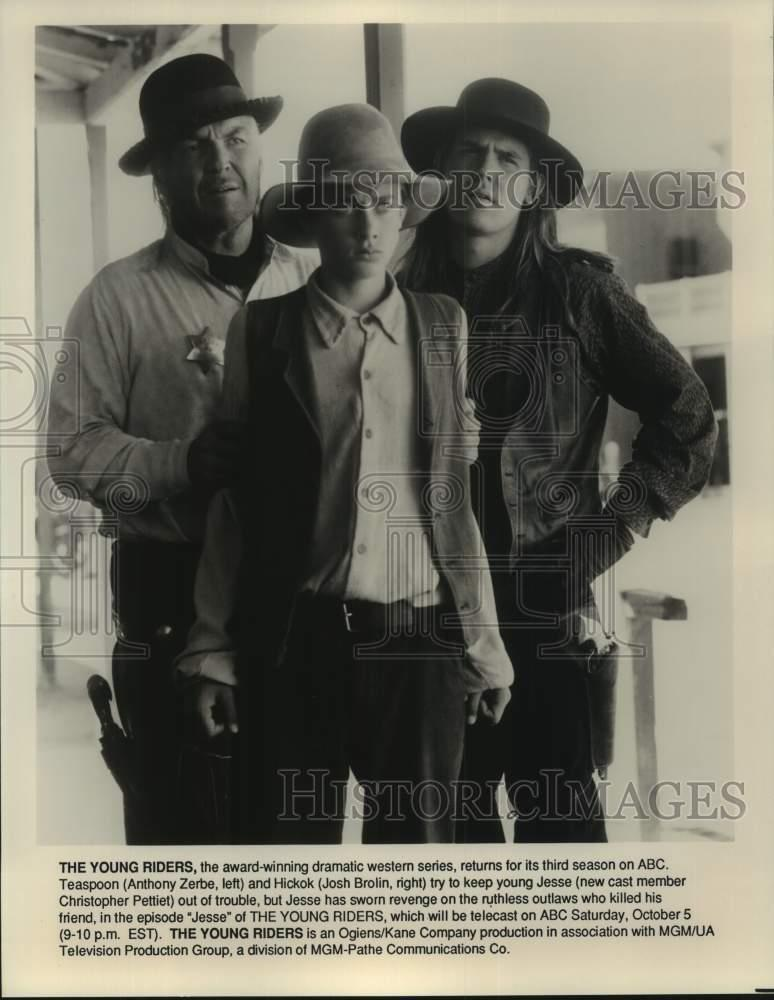 "1992 Press Photo Cast Members Of ""The Young Riders"