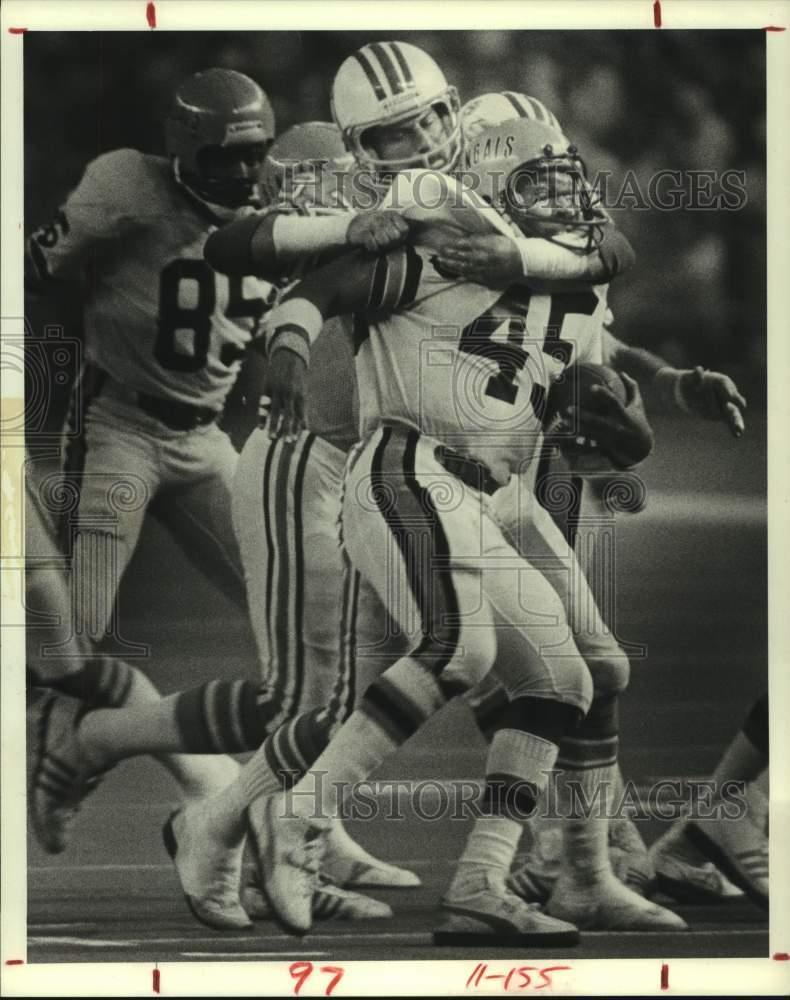 1980 Press Photo Houston Oilers football free safety Mike ...