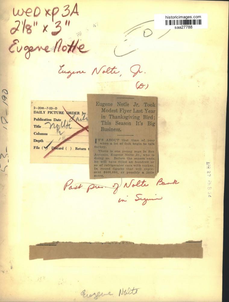 Details About 1954 Press Photo Eugene Nolte Jr Past President Nolte Bank In Sequin Texas