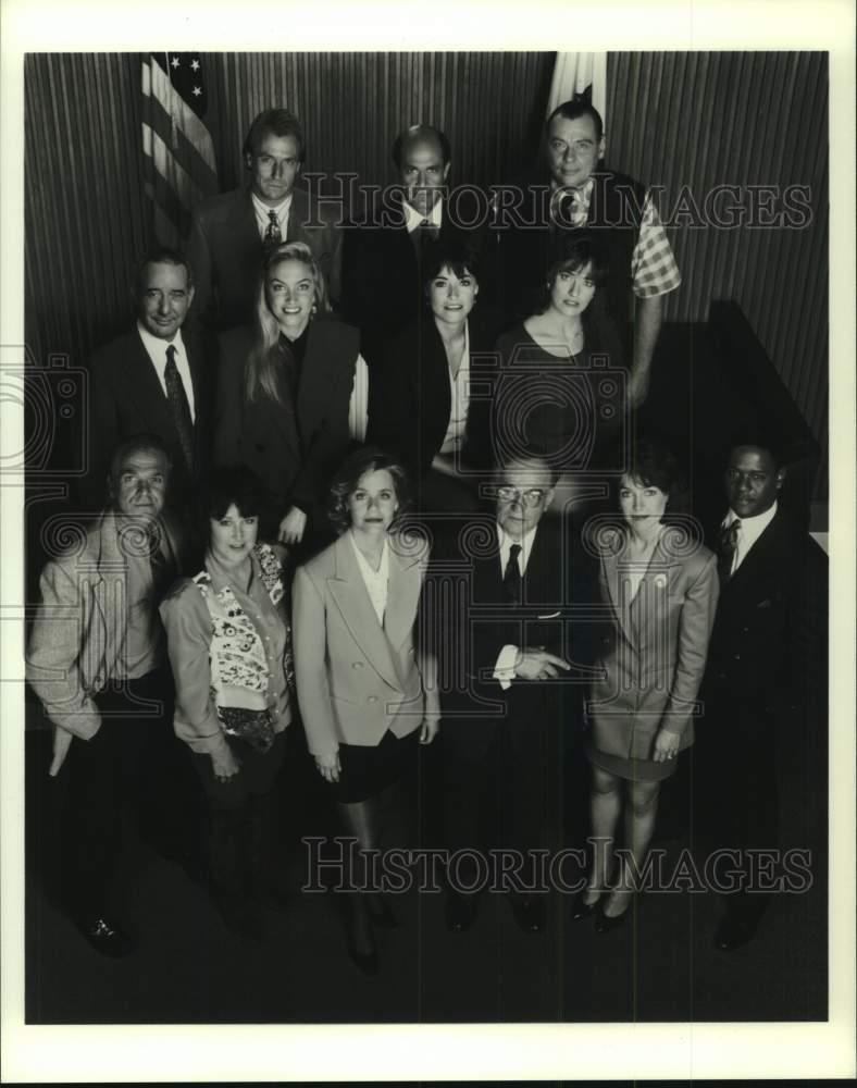 "1992 Press Photo Cast Of Television Series ""L.A. Law"