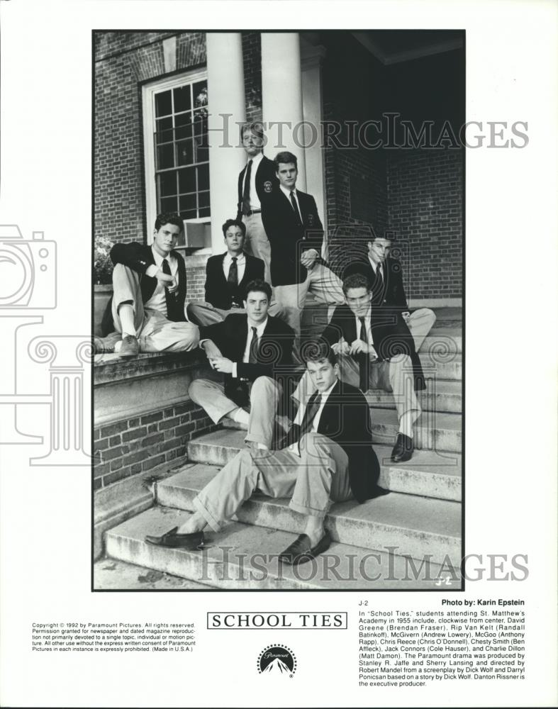 1992 Press Photo The Cast Of School Ties - Spp33442