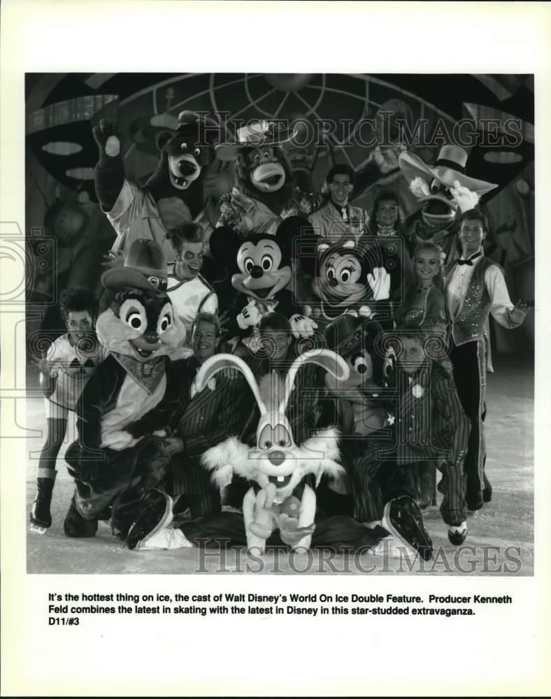 1992 Press Photo Walt Disney's World On Ice Double Feature