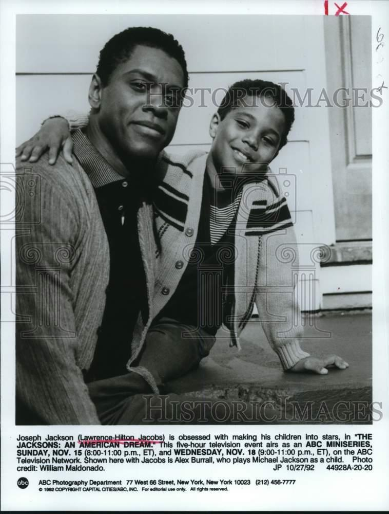 "1992 Press Photo The Cast In ""The Jacksons: An American"