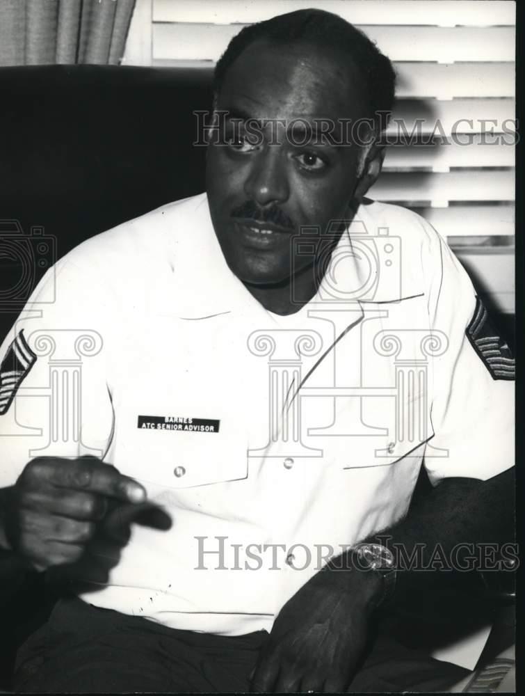 Press Photo Command Sargent Thomas N. Barnes at Randolph ...