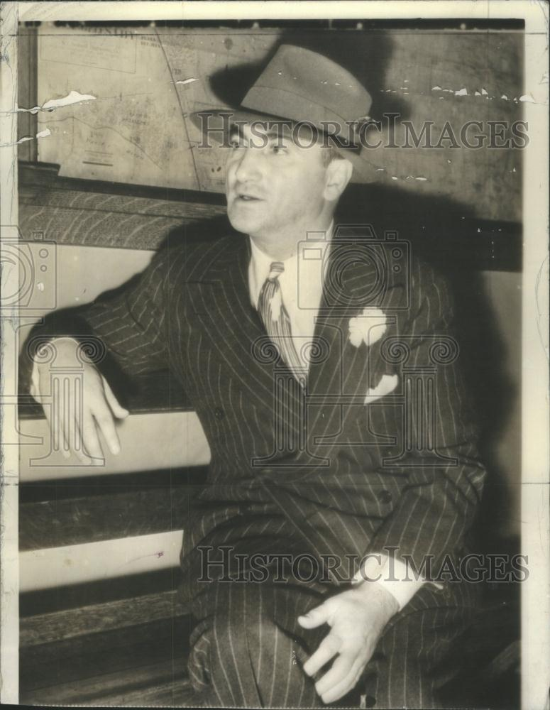 1938 press photo martin snyder american gangster chicago