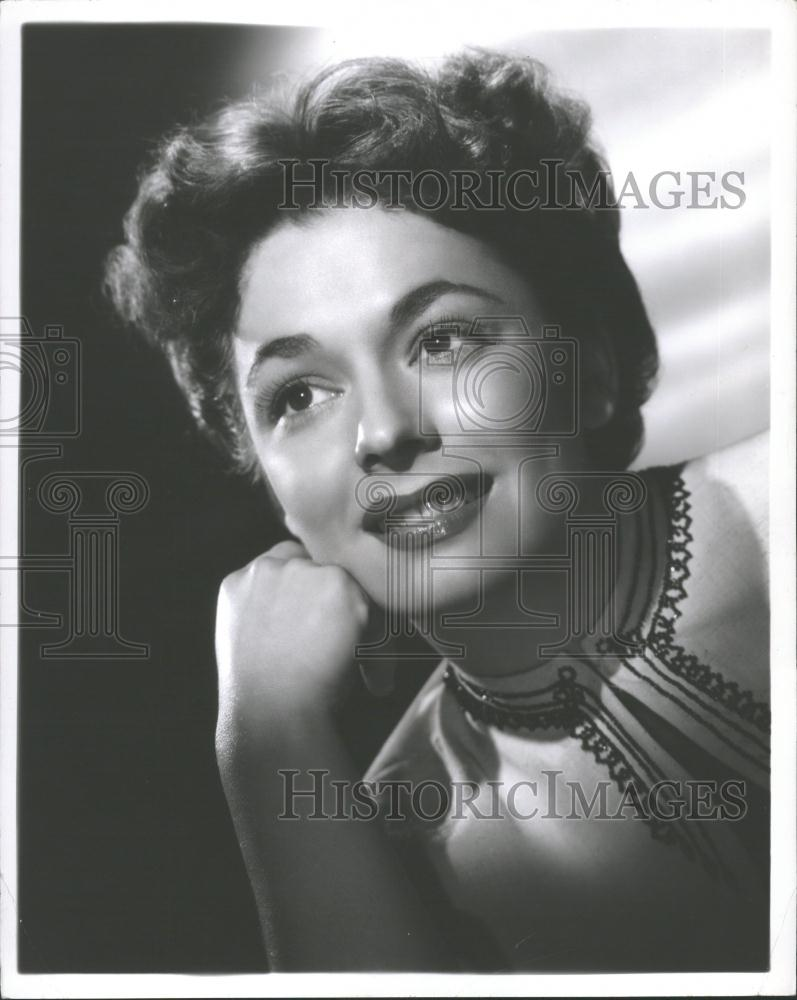 Ruth Roman Of Many Movies She Was In Strangers On A: 1951 Press Photo Actress Ruth Roman
