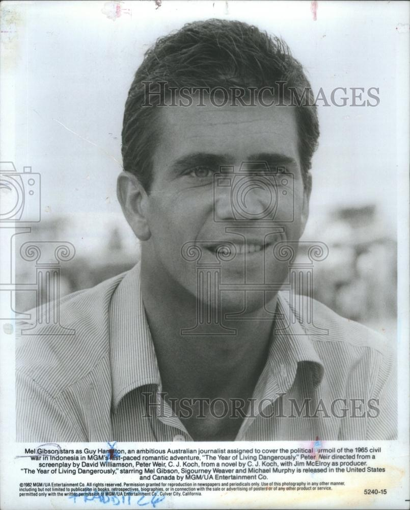 Mel Gibson Year of Living Dangerously Photo Mel Gibson The Year