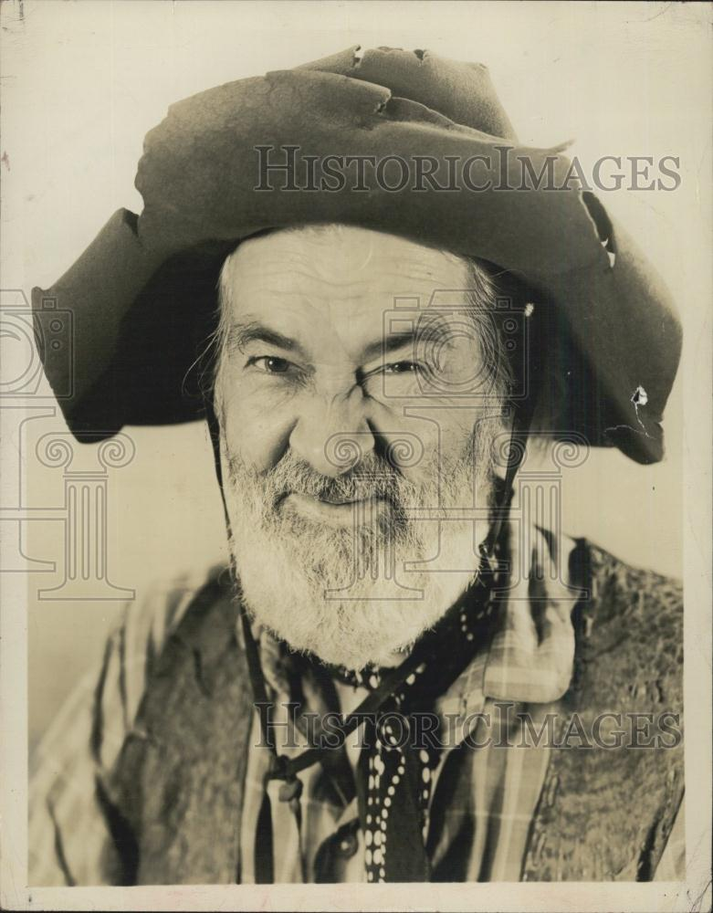 1970 press photo of american radio film and television for Gabby hayes