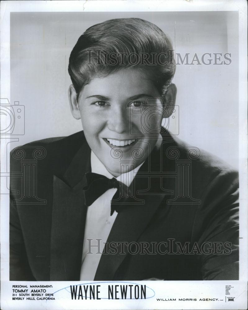 press photo copy young wayne newton in tuxedo managed by