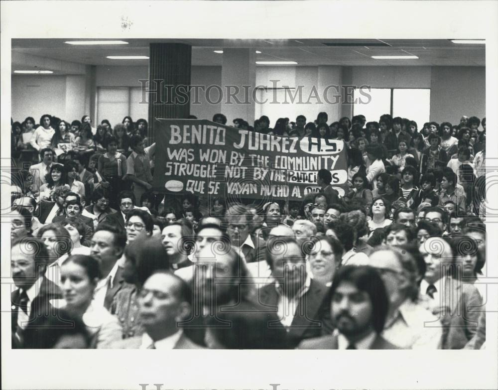 Benito Juarez Detail: 1977 Press Photo Benito Juarez High School
