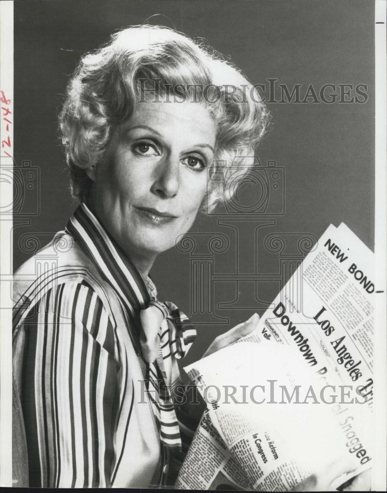 1982 Press Photo Nancy Marchand Actress Lou Grant Show ... Nancy Marchand