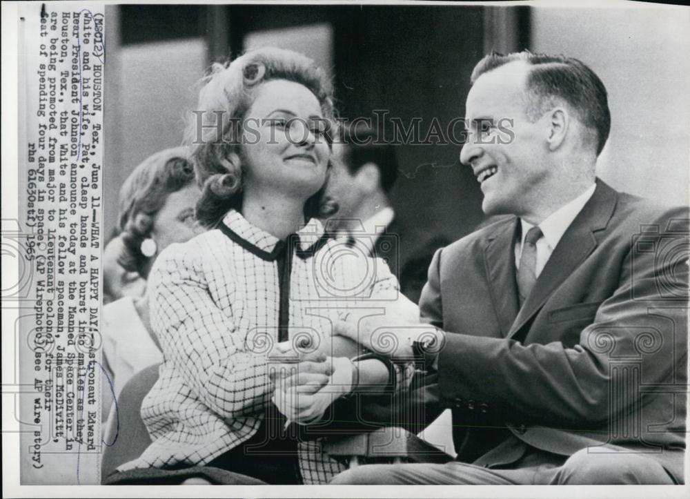1965 Press Photo Astronaut Edward White, II, and Wife, Pat, Rejoice | eBay