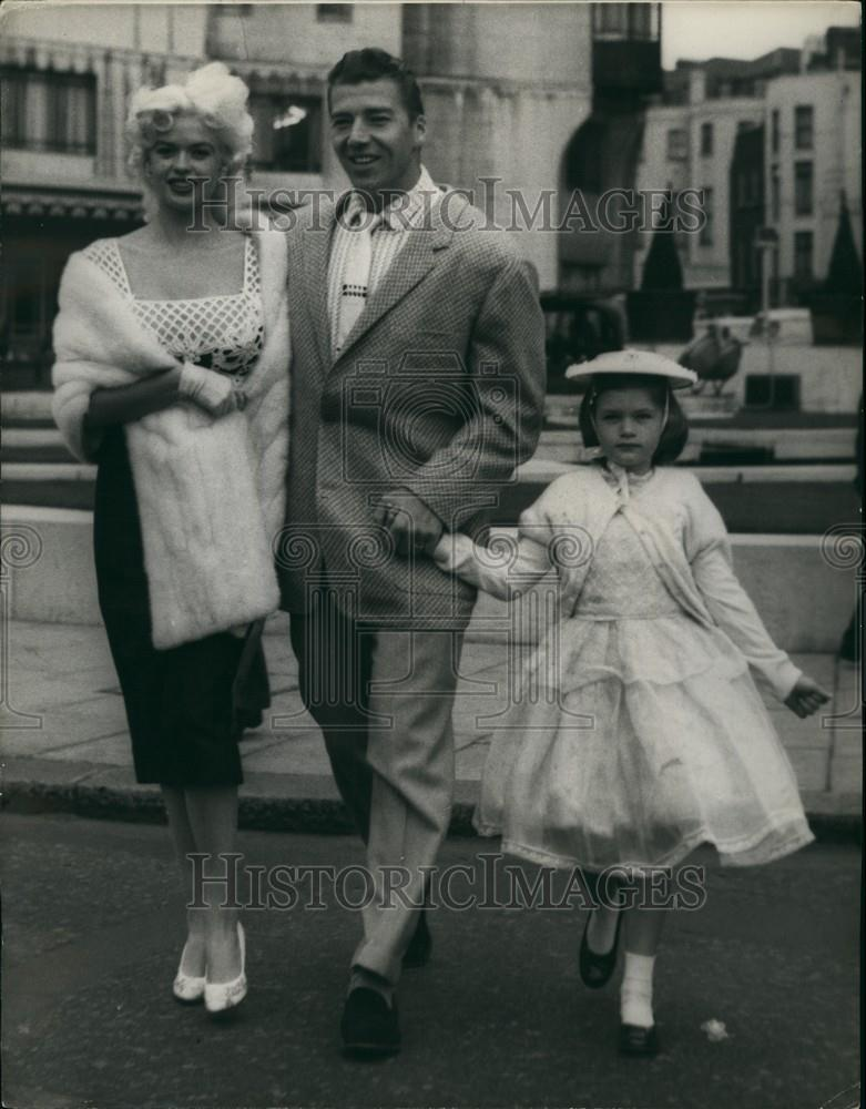 1958 Press Photo Jayne Mansfield & husband Mickey Hargitay ...