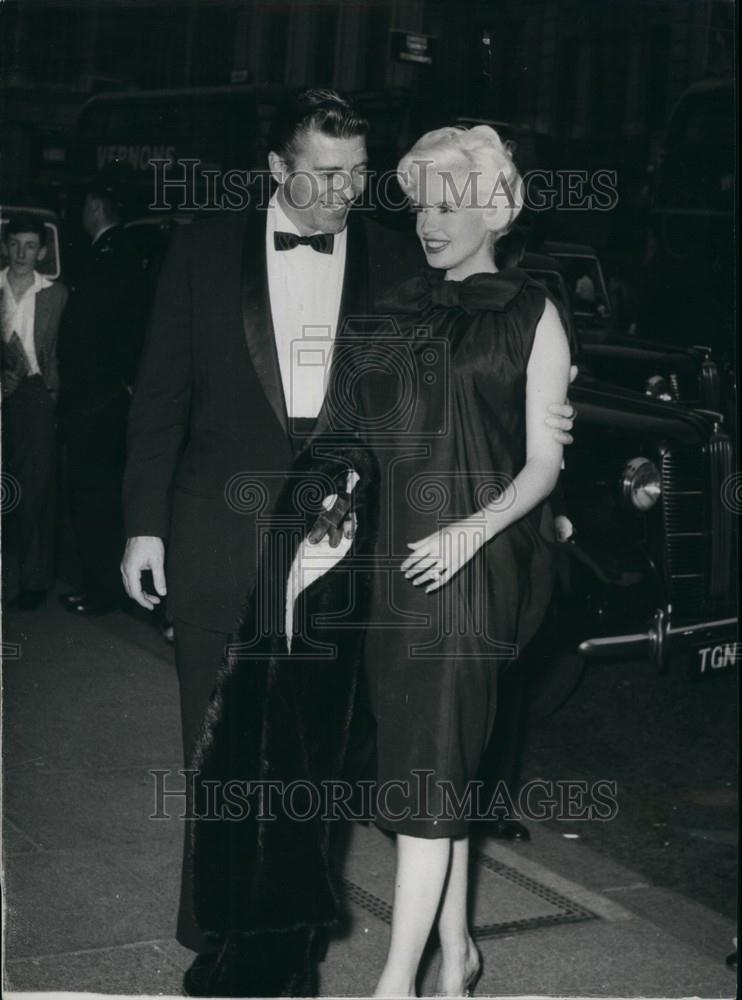 1958 Press Photo Jayne Mansfield Actress Husband Mickey ...