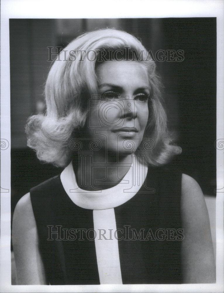 1971 Press Photo Of Actress Audrey Peters In Cbs Tv Show