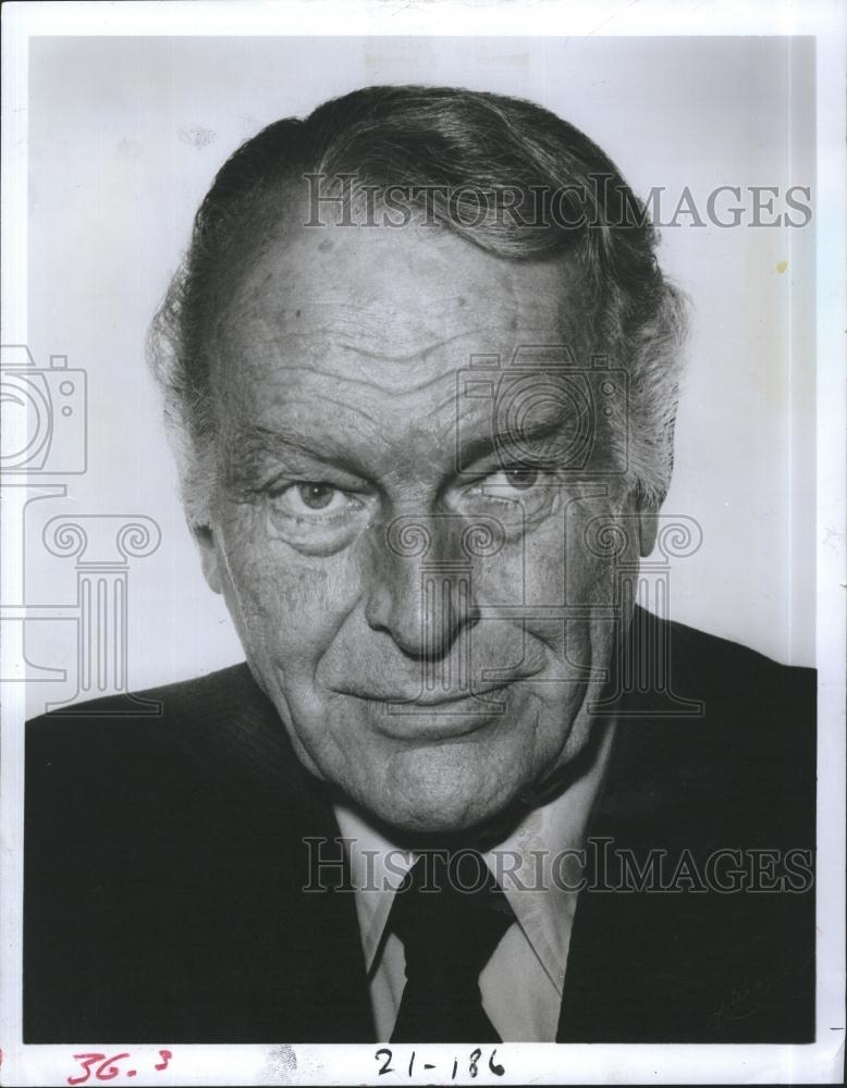 1978 Press Photo Leif Erickson Actor de películas de televisión Star