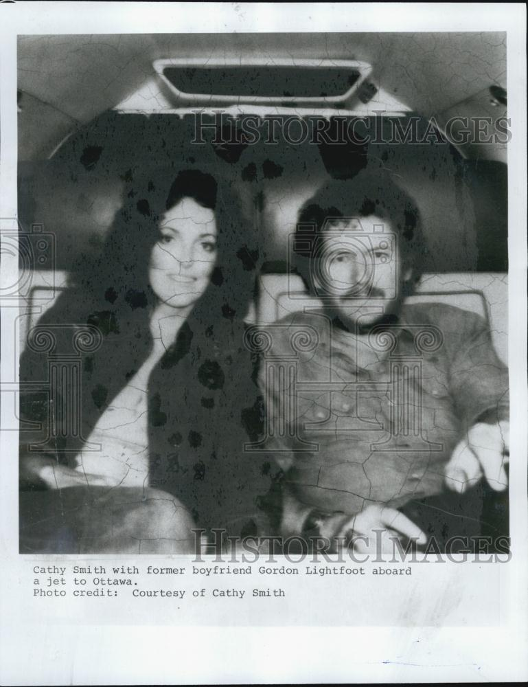 Press Photo Cathy Smith and Gordon Lightfoot