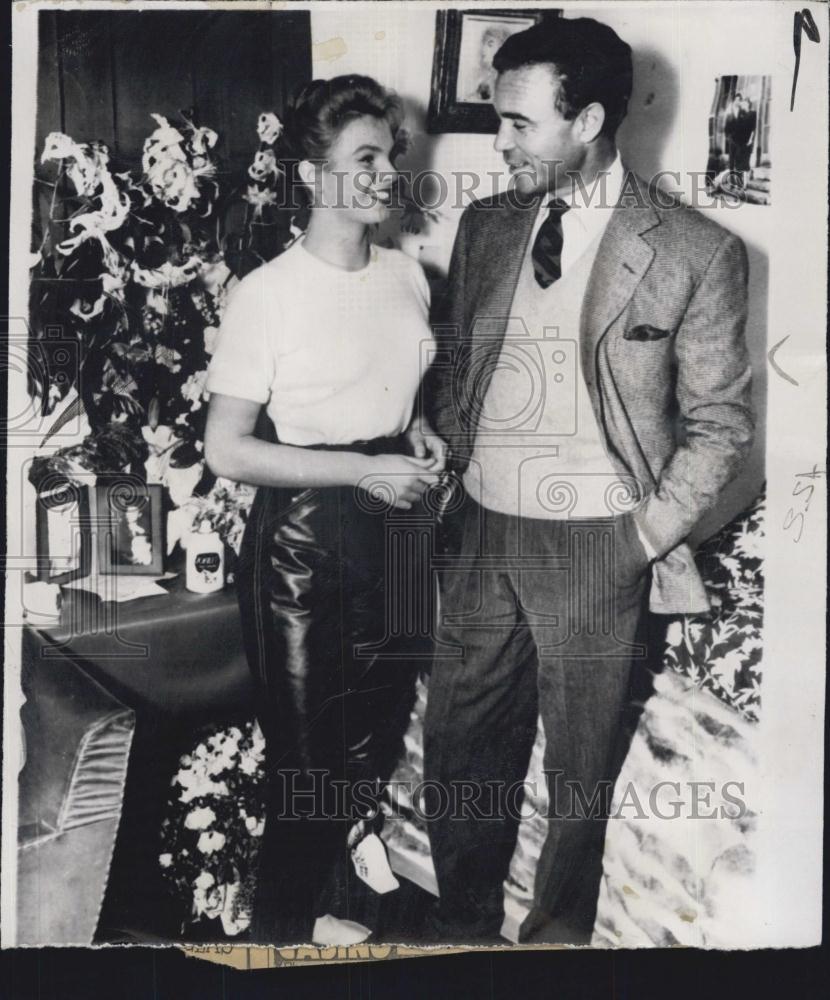 1956 Press Photo Dominican Diplomat Porfirio Rubirosa Odile Robin ...