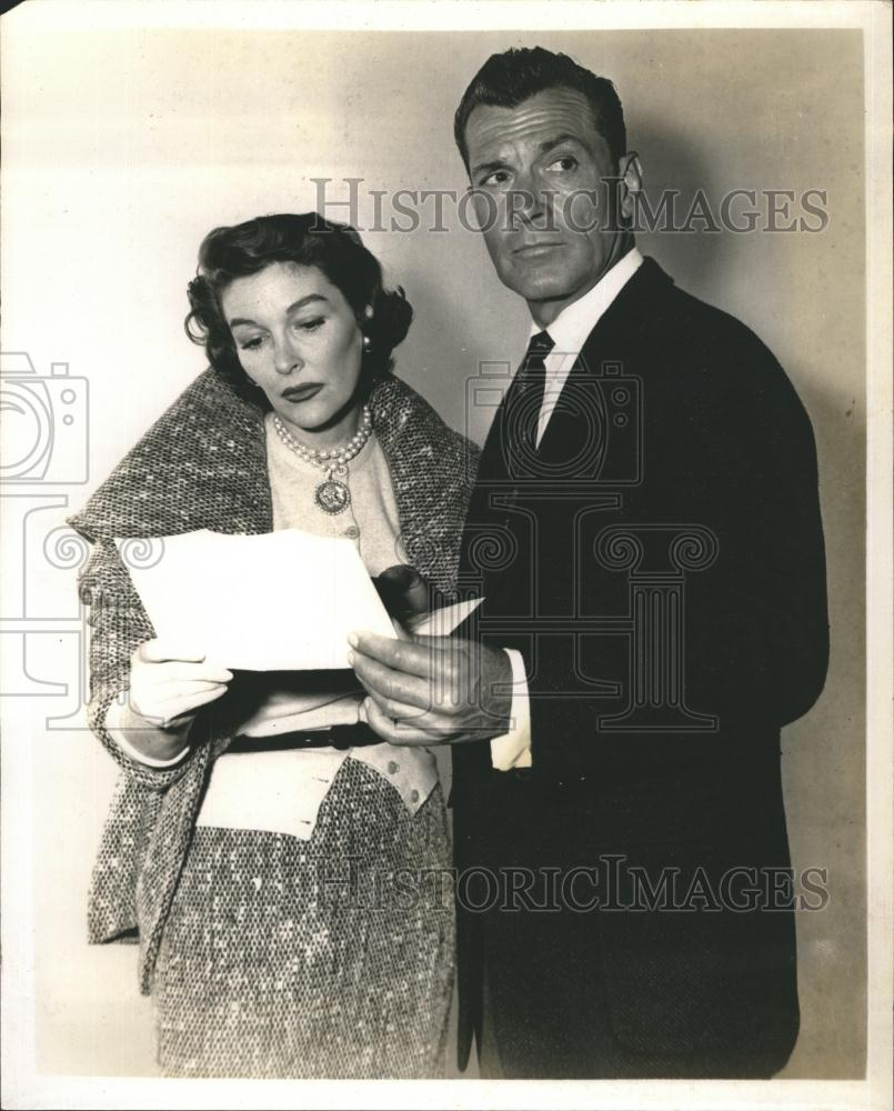 Press Photo Maggie Hayes And Kent Taylor On NBC Joseph