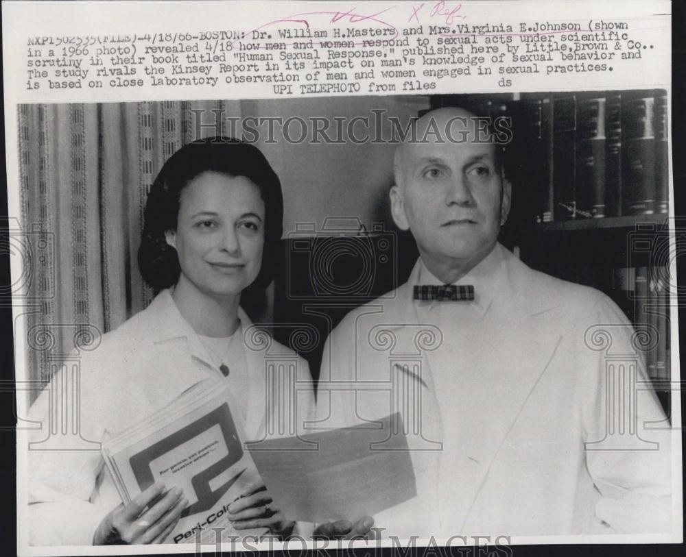 ... about 1966 Press Photo Dr William H Masters & Mrs Virginia E Johnson