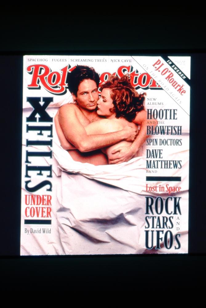 35mm slide rolling stone magazine cover of x files stars ebay. Black Bedroom Furniture Sets. Home Design Ideas