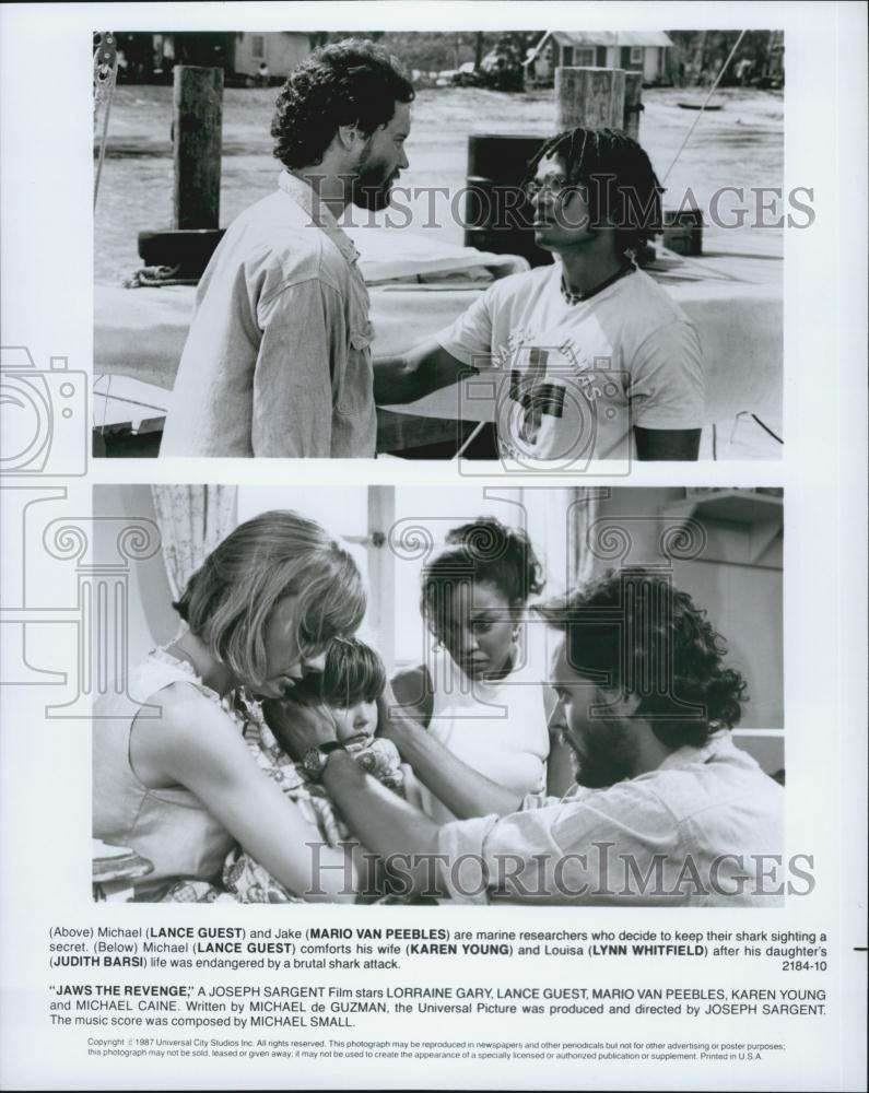 Details about 1987 Press Photo Lance Guest and Mario Van Peebles in