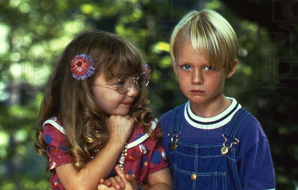 1993 35mm Slide Amy Sakasitz and Mason Gamble Dennis the ... Amy Sakasitz Dennis The Menace