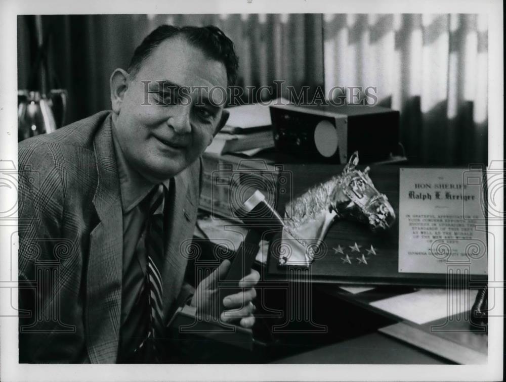 1972 Press Photo Ralph Kreiger Cuyahoga County Sheriff