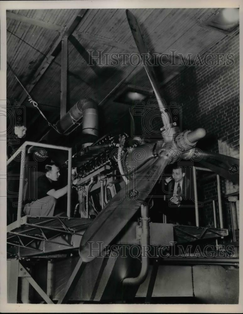 1941 Press Photo Allison V1710 Airplane Engine General