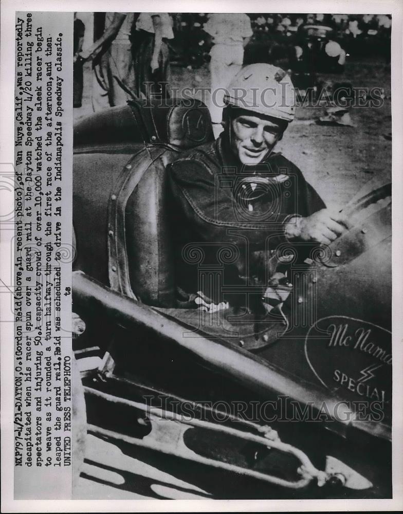 Gordon Reid Race Car Driver